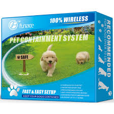 wire free dog containment system no need to dig and bury wires