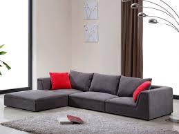 avis vente unique canapé canapé modulable en tissu gris et 2 coussins déco houston