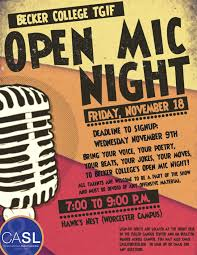 Open Front Student Desk by Open Mic Night Becker College