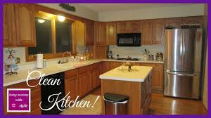 clean kitchen at night ringing in the new year