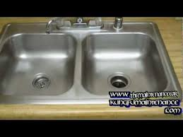 how to keep stainless steel sink shiny how to regrain and revive a stainless steel kitchen sink youtube