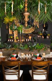 tropical themed wedding tropical table setting for an inspired wedding of