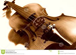 violin in sepia stock photography image 34858942