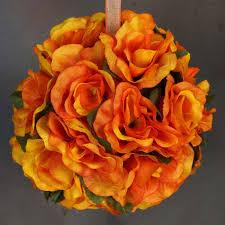 flower balls orange pomander flower balls wedding bouquet decor