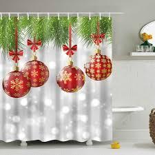 2018 christmas shower curtain online store best christmas shower