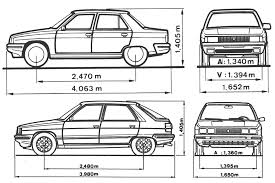1988 renault 11 sedan blueprints free outlines