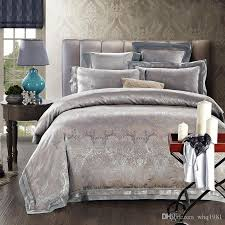 King Size Duvets Covers Jacquard Silk Cotton Home Textile Luxury King Size Comforter