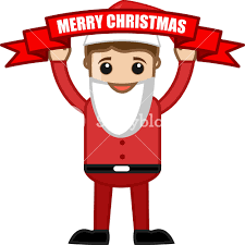 merry celebration in office business characters
