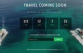 travel coming soon a flat responsive widget template