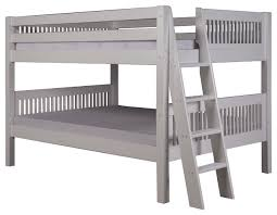 Low Headboard Beds by Camaflexi Full Over Full Low Bunk Bed Mission Headboard Lateral