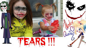kids cheap diy clowns halloween makeup joker harley quinn plus