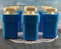 kitchen canisters blue canister sets etsy