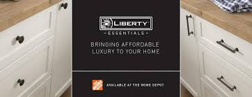 home depot brass kitchen cabinet handles get the look for less with liberty essentials at the home