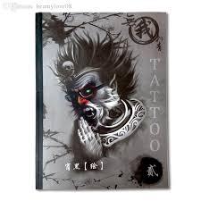 wholesale 2016 new tattoo book skull unicorn dragon beast geisha