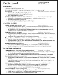 Resume Past Tense Resume U2013 Curtis Howell