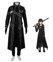 Halloween Costume Rental Amazon Sword Art Kazuto Kirigaya Kirito Anime Cosplay