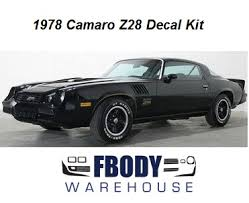pictures of 1978 camaro 1978 camaro z28 decal kit all factory colors