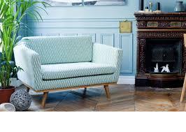 rededition canap canapé 120 cm en chêne massif et en tissu coton bakou couleur
