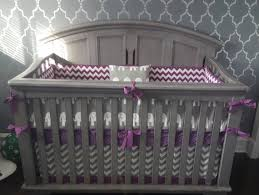 Purple Nursery Bedding Sets by Crib Bedding Set Gray Purple Elephant Made To Order