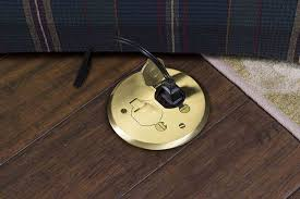 Hardwood Floor Outlet How To Install A Poke Through Electrical Floor Outlet