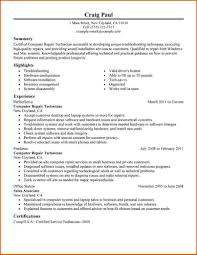 cover letter computer repair technician job description computer
