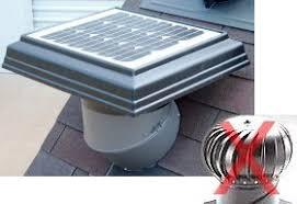 solar powered attic fan retrofit turbine mount