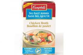 la cuisine sans sel aliment sous la loupe bouillon de poulet sans sel ajouté de