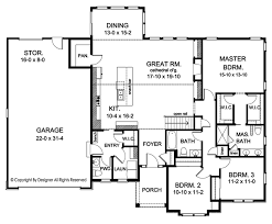 ranch style house plan 3 beds 2 5 baths 2006 sq ft plan 1010