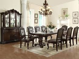 traditional 7 pieces kiera dining table set with leaf 21507p