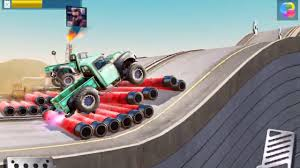 monster truck racing video monster trucks racing big ugly truck gameplay android ios hill