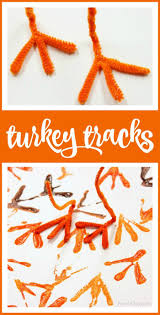 thanksgiving card for kids turkey tracks turkey art for kids turkey art literacy and math