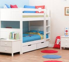 Classic Kids Bunk Bed White - White bunk bed with mattress