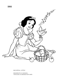 marvelous snow white snow white coloring pages