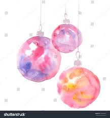 Simple Elegant Christmas Decor by Christmas Decorations Watercolor Illustration Hand Painted Stock