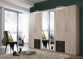armoire 6 portes 4 tiroirs fly chene lave