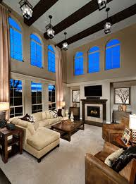 Story Great Room Dramatic  Story Family Room Toll Brothers - Two story family room