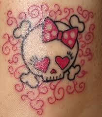 skull girly girly skull and squiggles this that