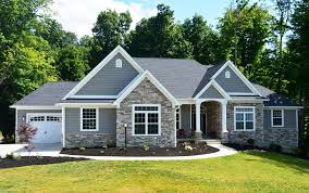 Home Design Side Load Garage House Plans Country Ranch With