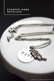 Stamped Name Necklace Diy Stamped Name Necklace Tips Minted Strawberry