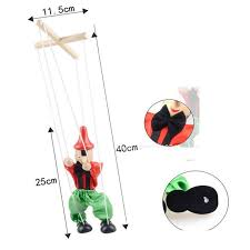 string puppet 5pcs lot classic line longfunny pull string puppet clown
