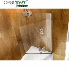 cleargreen hinged bath screen uk bathrooms