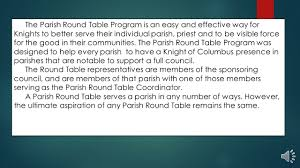 members of the round table knights of columbus parish round table ppt video online download