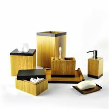 Bamboo Bathroom Accessories by Bamboo Bathroom Accessory Sets Bath Decor Accessories