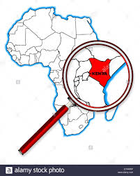 Outline Map Of Africa by Kenya Outline Inset Into A Map Of Africa Over A White Background