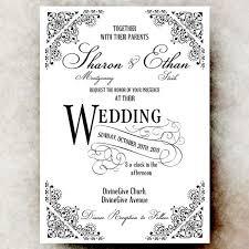 digital wedding invitations black and white vintage wedding invitations wedding