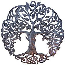 new design celtic inspired tree of metal wall