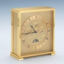 Brass Desk Accessories by Tiffany U0026 Co Annual Calendar And Moon Phase Gilt Brass Desk Clock