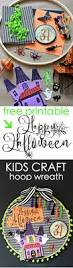 halloween kid craft ideas halloween hoop art wreath