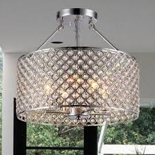 semi flush crystal chandelier wayfair