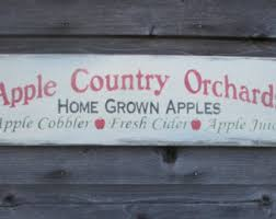 Apple Home Decor Primitive Apples Etsy